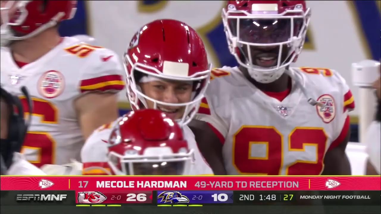 Mecole Hardman 49 Yard Touchdown   Chiefs vs. Ravens   NFL Week 3