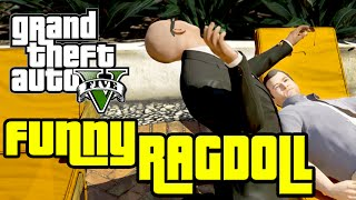 GTA V CutScenes with Ragdoll Mod (Funny Moments Compilation)