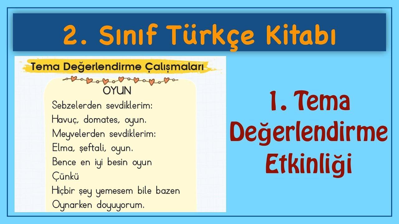 2 Sinif Türkçe Kitabi 1 Tema Değerlendirme Etkinlikleri Türkçe