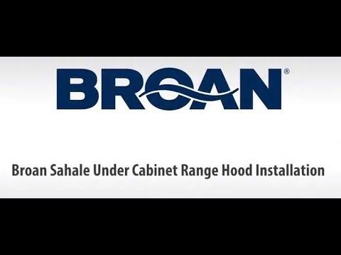 Broan Sahale BKSH1, BKSA1, BKDB1, BKDEG1 Single Blower Under-Cabinet on