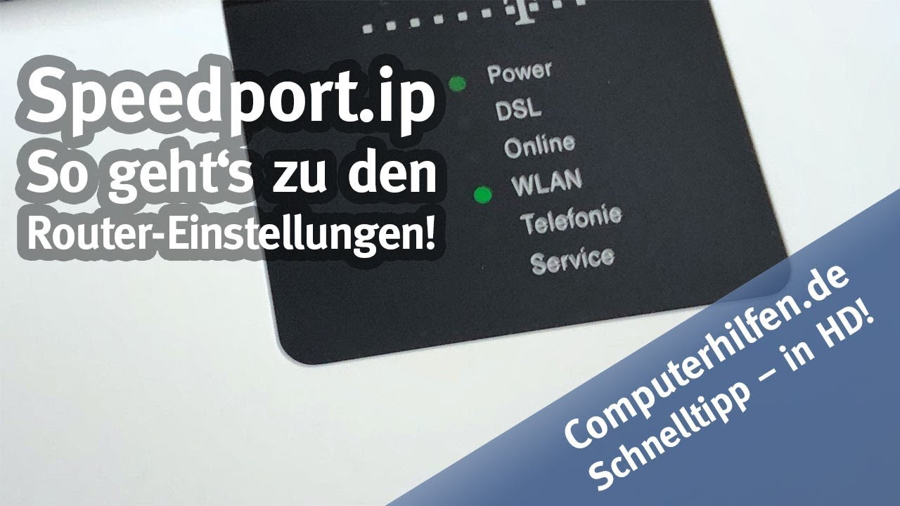 Einrichten Telekom Router ツ Speedport Ip Login So Klappt Der Router Login