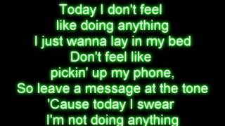 Bruno Mars the lazy song letra
