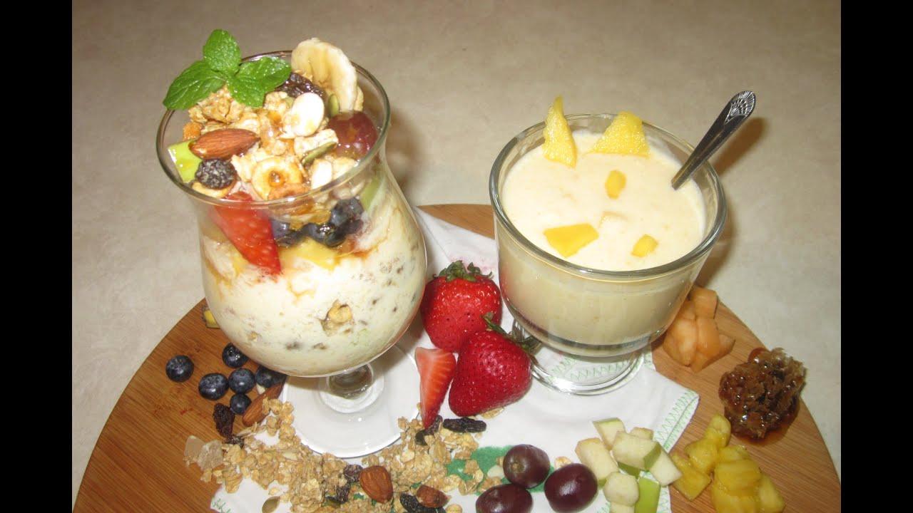 como preparar yogurt natural comida saludable snack