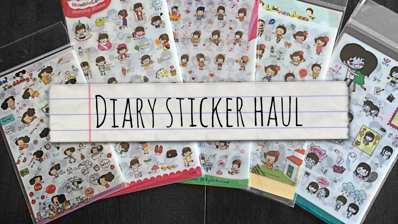 amazon home decor haul diary sticker haul 10342
