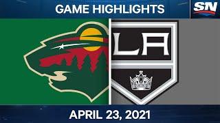 NHL Game Highlights   Wild vs. Kings – Apr. 23, 2021