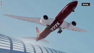 فيديو.. شاهد أكبر طائرة نفاثة في العالم بجناحين قابلين للطي