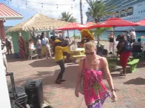St Thomas Party Island Fun with Saxophone Serenade & Royal Caribbean Seas Cruise Tourism