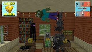 Monster School: LUCKY BLOCK - INVISIBLE BOX CHALLENGE - Minecraft Animation