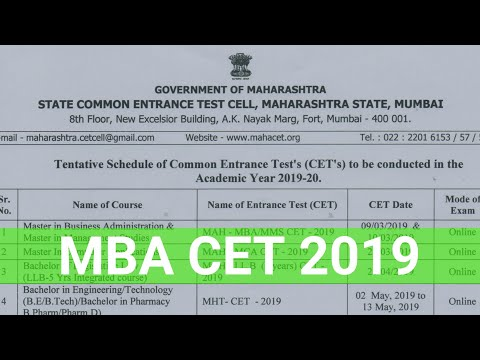 CET dates out. 75 days left for MAH MBA MMS CET 2019.