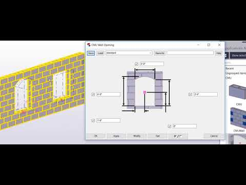 Creating Concrete Masonry Walls with Tekla Structures