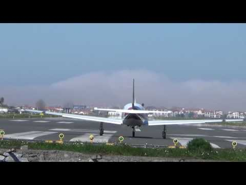 Piper PA-46-310P Malibu (F-GMBC) takeoff San Sebastian airport (EAS/LESO)