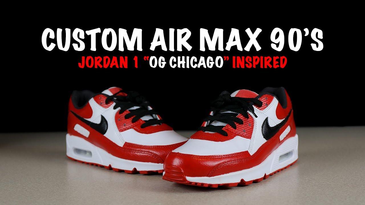 Custom Air Max 90's - Jordan 1