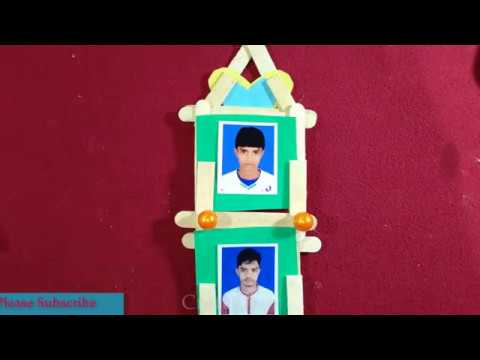 Easy photo frame using Popsicle sticks || Ice Cream Stick Frame ||Craft Ghor
