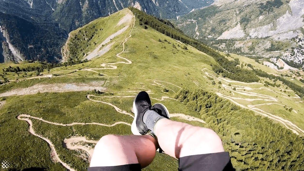 Брзо летање низ Алпите со параглајдер