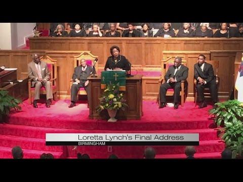 Loretta Lynch in Birmingham