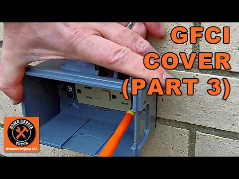 GFCI Exterior Weatherproof Cover Installation - by Home Repair Tutor