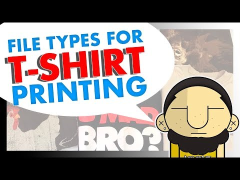 File Types and Print Format for T SHIRT PRINTING & Design