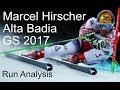 Marcel Hirscher Alta Badia analysis 2017