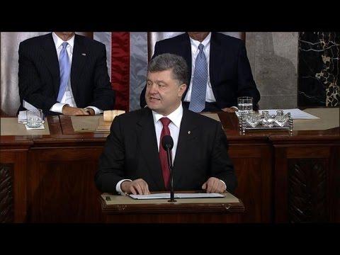 Ukraine leader warns of Russia threat, seeks US support