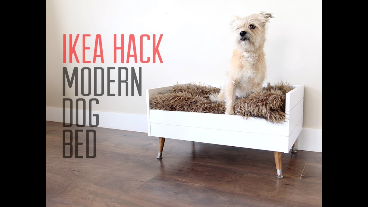 IKEA HACK  DIY Modern Dog Bed  YouTube
