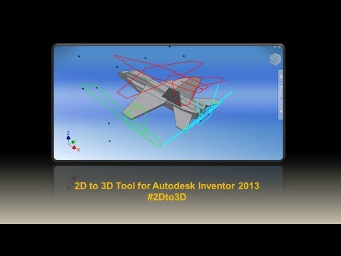 Autodesk Inventor 2D To 3D Tool For 2013 #2Dto3D - YT