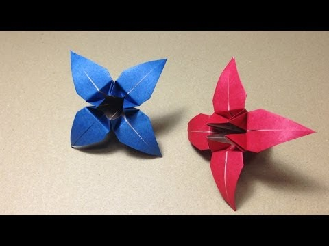 クリスマス 折り紙 : あやめ 折り紙 : youtube.com
