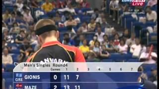 Repeat youtube video Table Tennis - Attack (MAZE) Vs Defense (GIONIS) XVIII !
