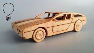 DeLorean DMC 12 out of Wood