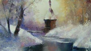 Урок живописи маслом Алексанлра Южакова Зима +79857776200