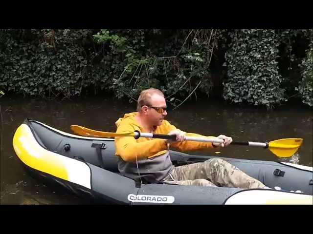 Sevylor testing the sevylor colorado kayak - Test kayak gonflable ...
