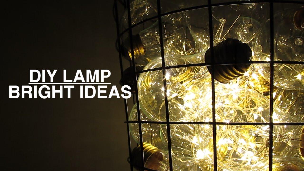 Diy Lamp Diy Bright Ideas Light Bulb Bin Lamp Youtube