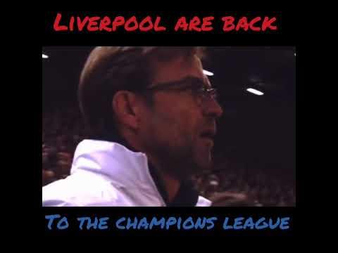 Jurgen klopp returned Liverpool FC to the UEFA Champions League football.