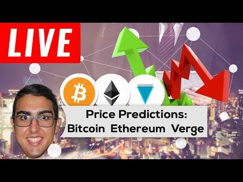 Price Predictions: Bitcoin ($BTC), Ethereum ($ETH), & Verge ($XVG)