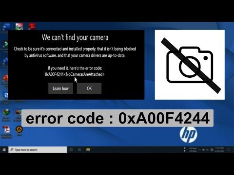 Tips Mengatasi Webcam Dan Camera Tidak Berfungsi Di Windows 10 Error Code 0xa00f4244 Part 1 Youtube