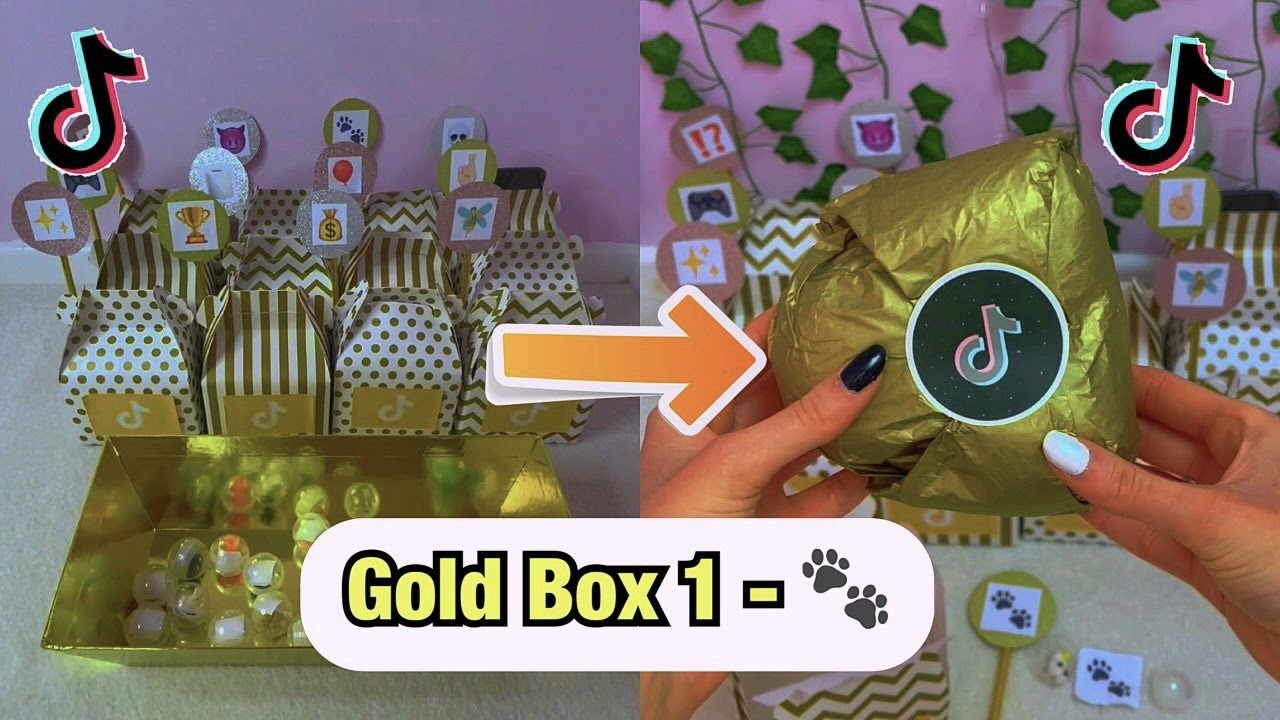 Download TikTok Mystery GOLD Boxes - BOX 1!!🐾 *asmr* #Shorts