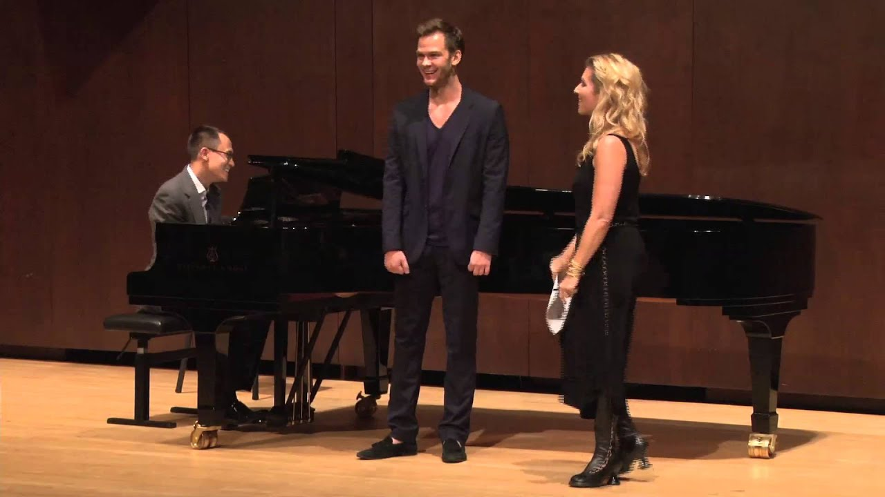 Joyce DiDonato Master Class, October 4, 2013: Szymon Komasa and Bretton Brown