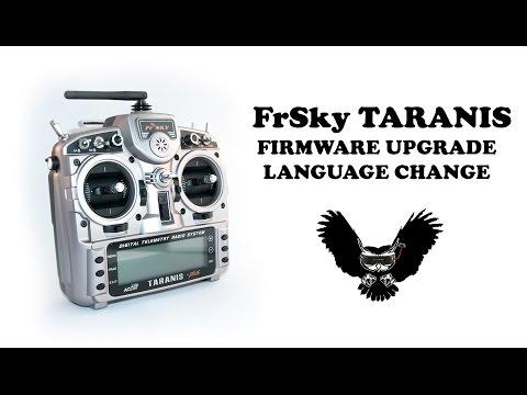 FrSky Taranis - Firmware Upgrade + Language Change