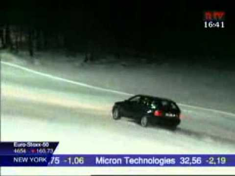 Audi Quattro and BMW Xdrive snow test