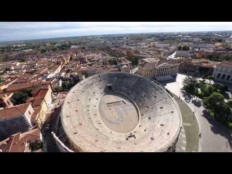 """Arena Di Verona - Helicopterflight by Luzius Ziermann: """"Signature of Light - Firma della Luce"""""""