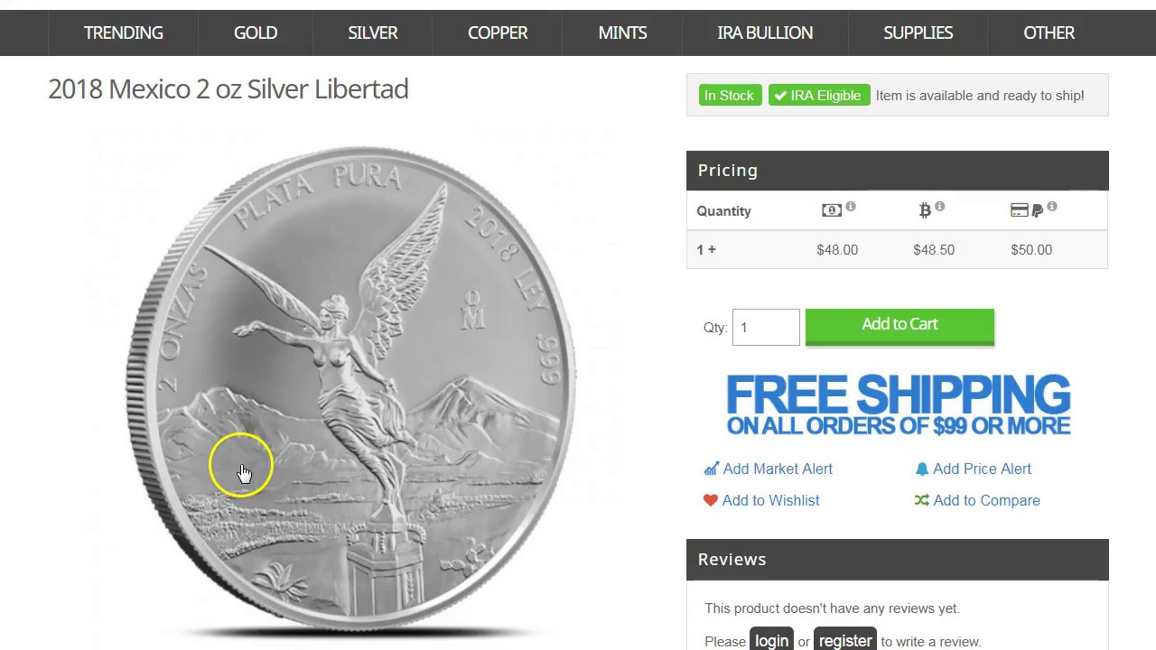 Deal On 2018 2 Oz Silver Libertad Other Bullion