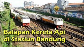 Momen Spesial: Balapan KA di Stasiun Bandung