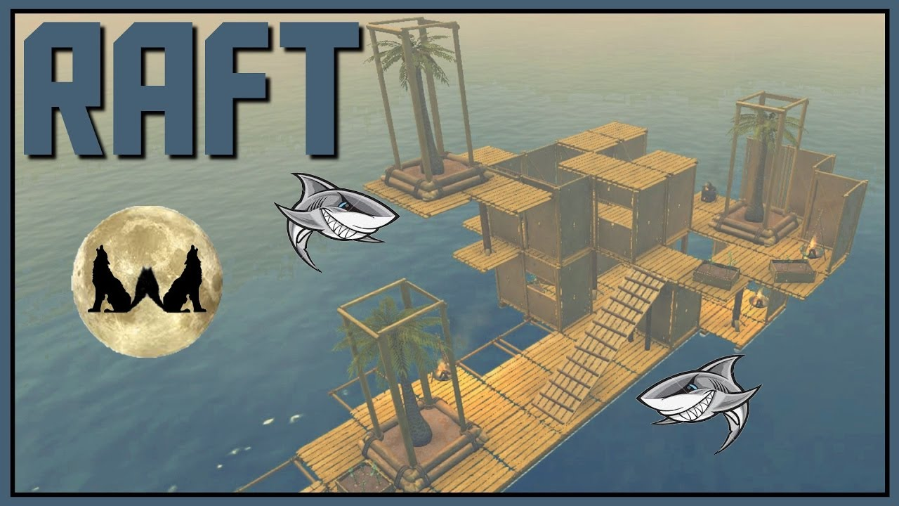 RAFT SURVIVAL GAME! Ep 3 HOW BIG CAN WE MAKE THE RAFT!?