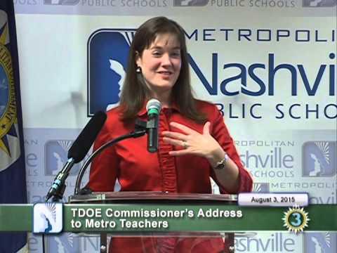 TDOE Commissioner's Address to Metro Teachers