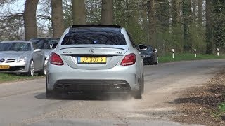 C63 S AMG Exhaust Compilation: Powerslides, Loud Accelerations, Epic Crackels, Drifts!