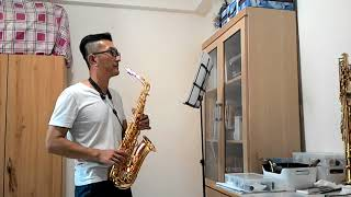 小雨 林玉英 alto saxophone cover 中音薩克斯風練習