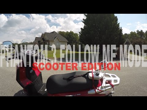 DJI Phantom 3 Pro - Follow Me Mode - Scooter Edition