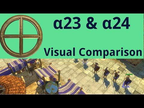 0 A.D. - A23 Vs A24(prerelease) Visual Comparison