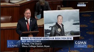 Flores Honors the Life and Legacy of Former President George H.W. Bush