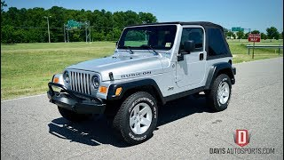 Davis AutoSports 2005 Jeep Wrangler Rubicon TJ For Sale / We Can Build For You!!