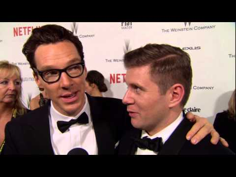 The Golden Globes 2015: Benedict Cumberbatch & Allen Leech Weinstein Afterparty Interview